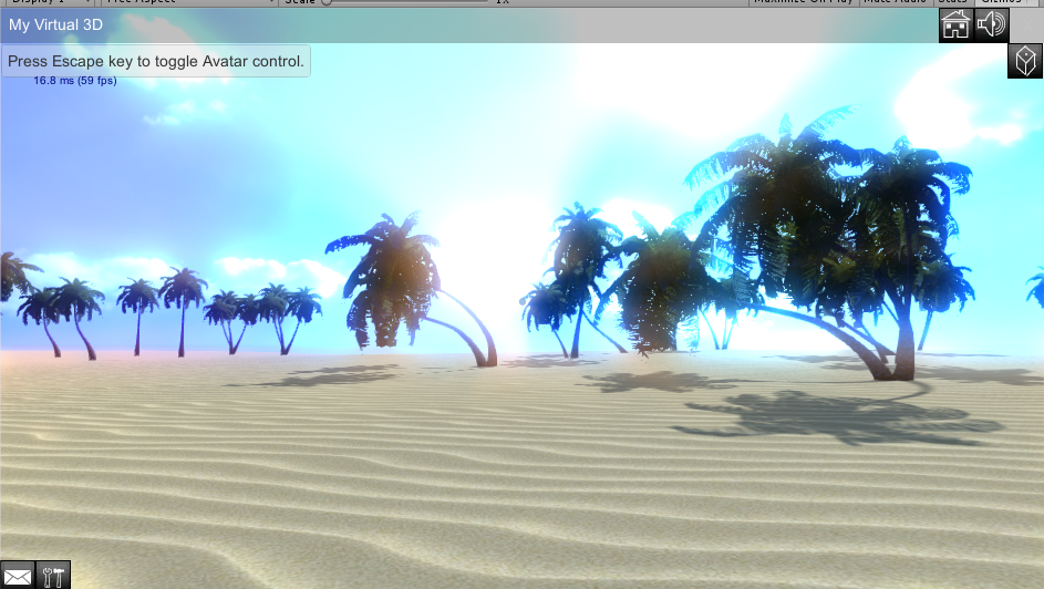 My virtual 3d - Island sky water trees